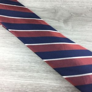 Stafford Blue and Brown Striped Pattern Tie